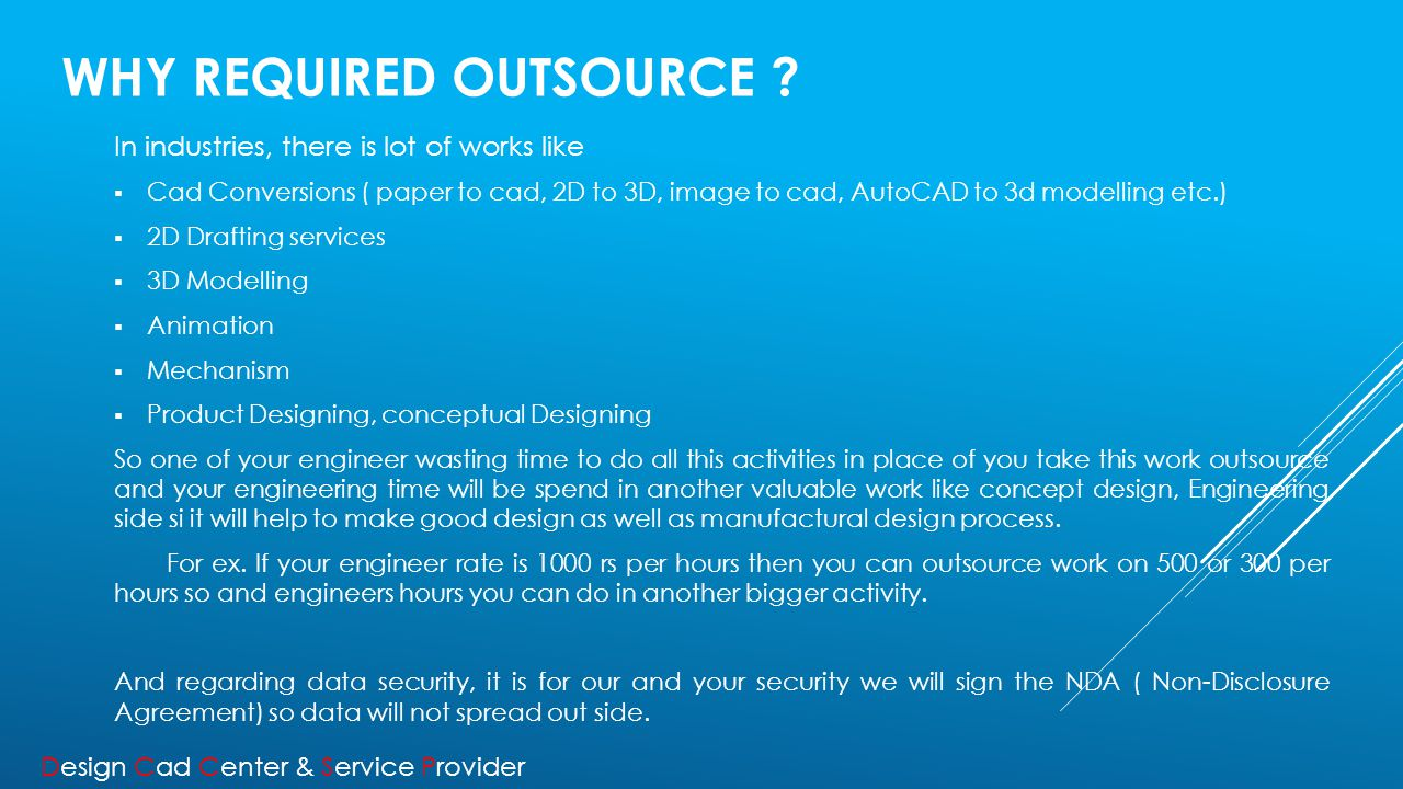WHY REQUIRED OUTSOURCE .