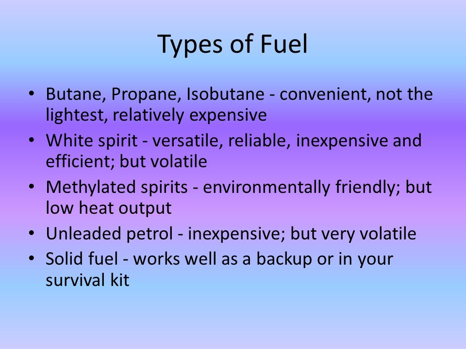 Types of stove Multi-fuel: