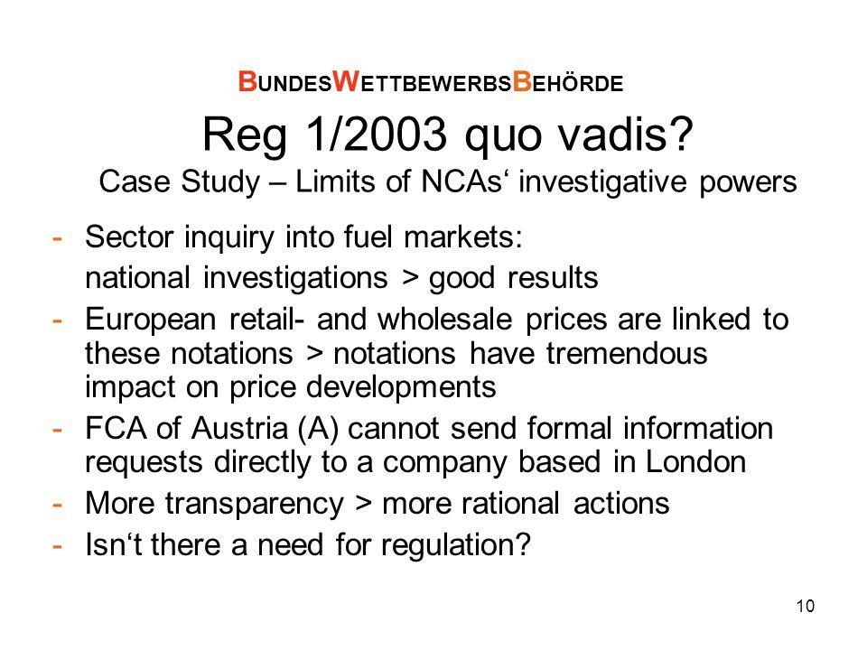 10 Reg 1/2003 quo vadis.