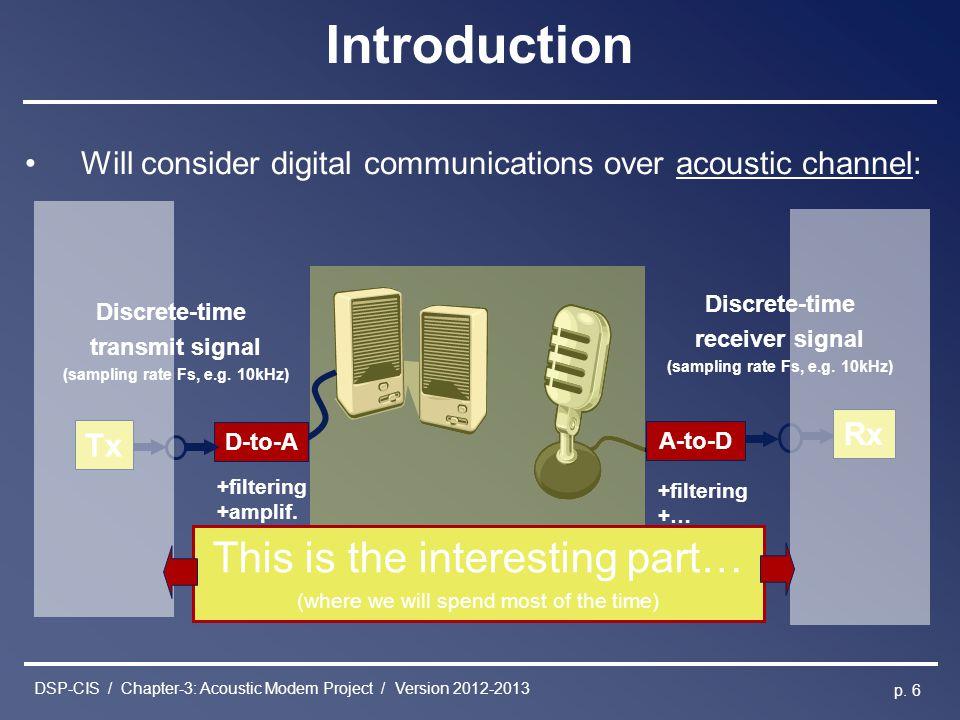 DSP-CIS / Chapter-3: Acoustic Modem Project / Version 2012-2013 p.