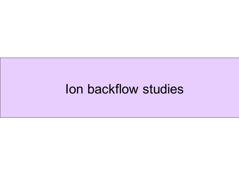 Ion backflow studies