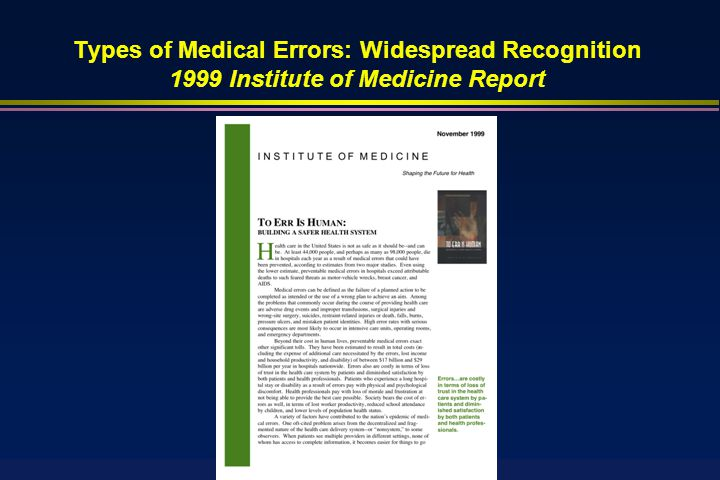 Medical Errors Is A Serious Problem in Health Care: Influential Publication of Meta-Analysis in the New England Journal of Medicine (2009)