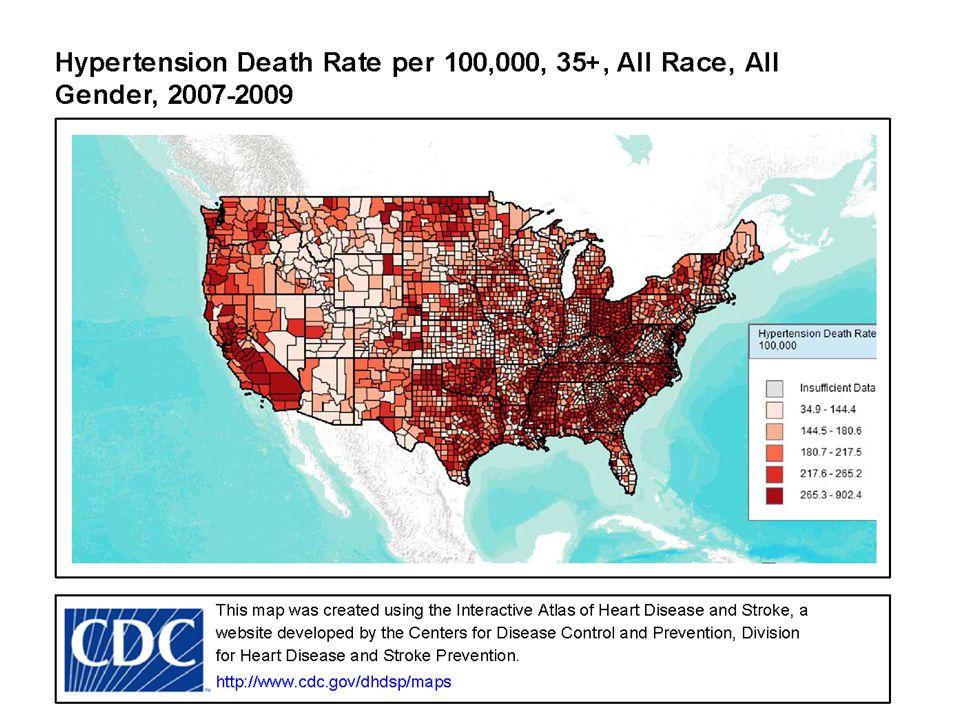 Hypertension Mortality Rates http://apps.nccd.cdc.gov/DHDSPAtlas/reports.aspx