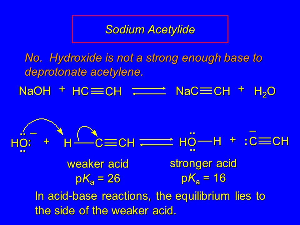 No. Hydroxide is not a strong enough base to deprotonate acetylene.