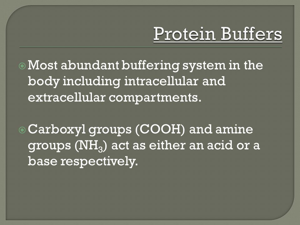  Most abundant buffering system in the body including intracellular and extracellular compartments.