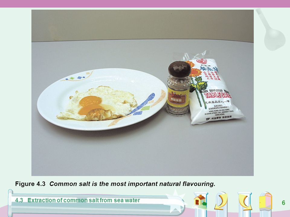 6 Figure 4.3 Common salt is the most important natural flavouring.