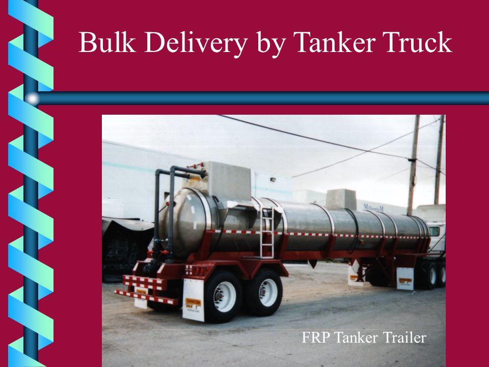 Bulk Delivery by Tanker Truck FRP Tanker Trailer
