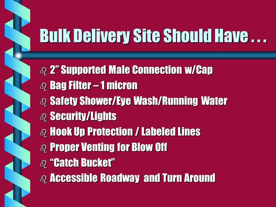 Bulk Delivery Site Should Have...