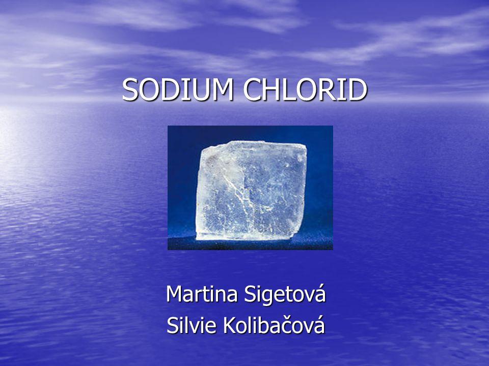 SODIUM CHLORID Martina Sigetová Silvie Kolibačová