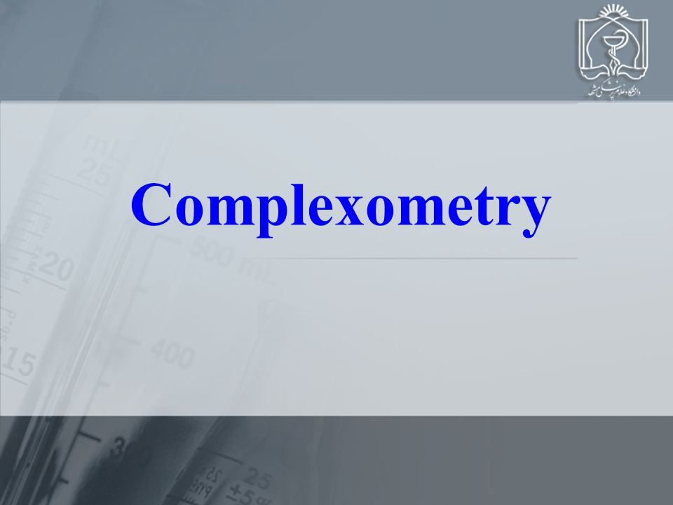 Complexometry