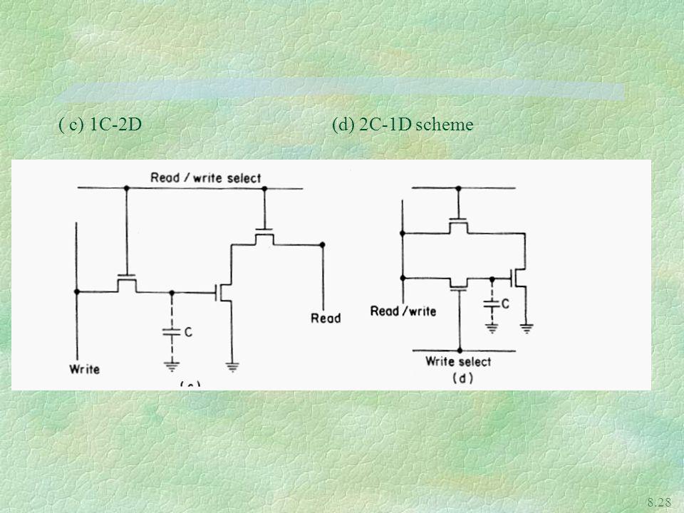 8.28 ( c) 1C-2D (d) 2C-1D scheme