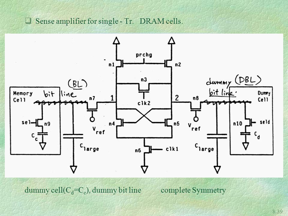 8.39 qSense amplifier for single - Tr.DRAM cells.