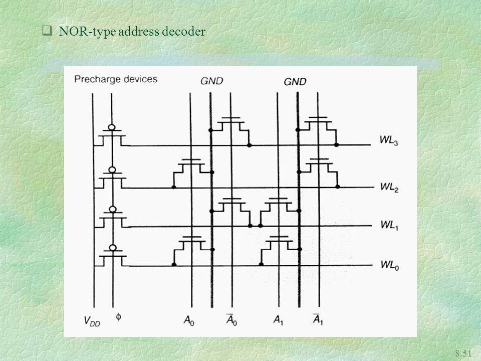 8.51 qNOR-type address decoder
