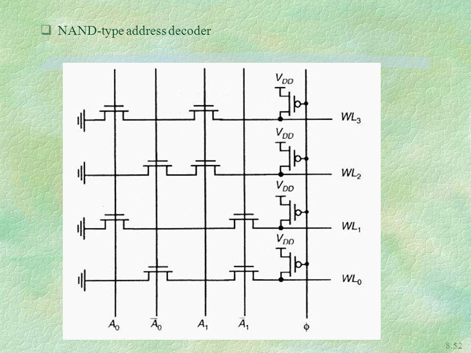 8.52 qNAND-type address decoder