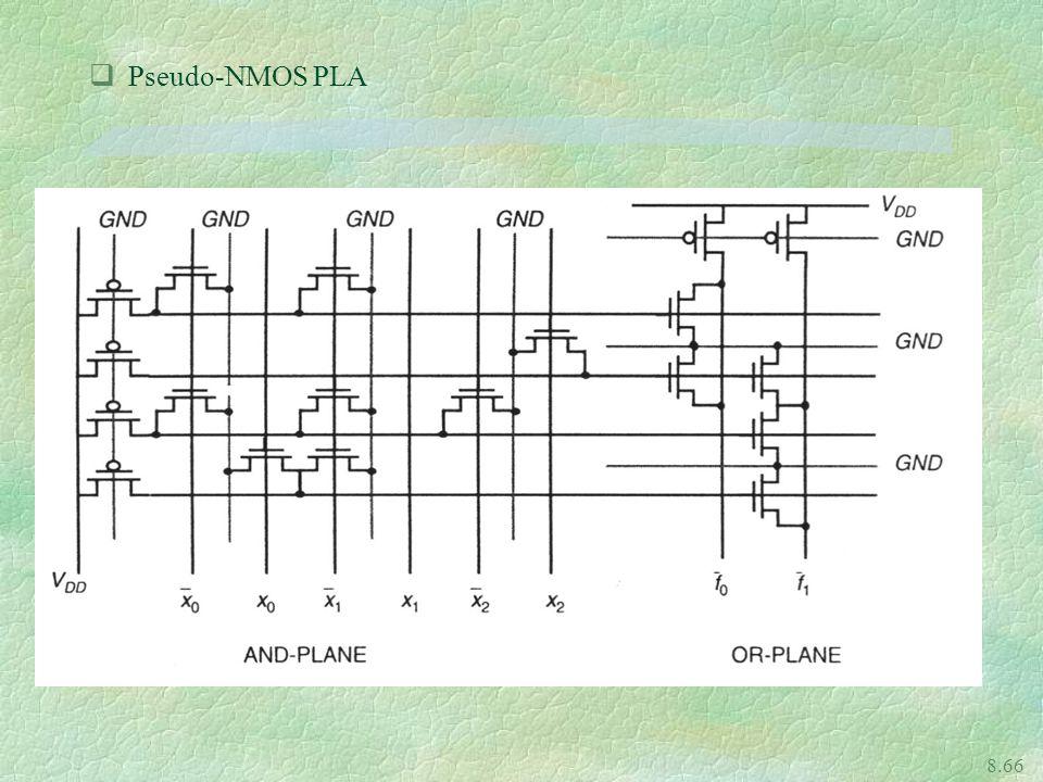 8.66 qPseudo-NMOS PLA