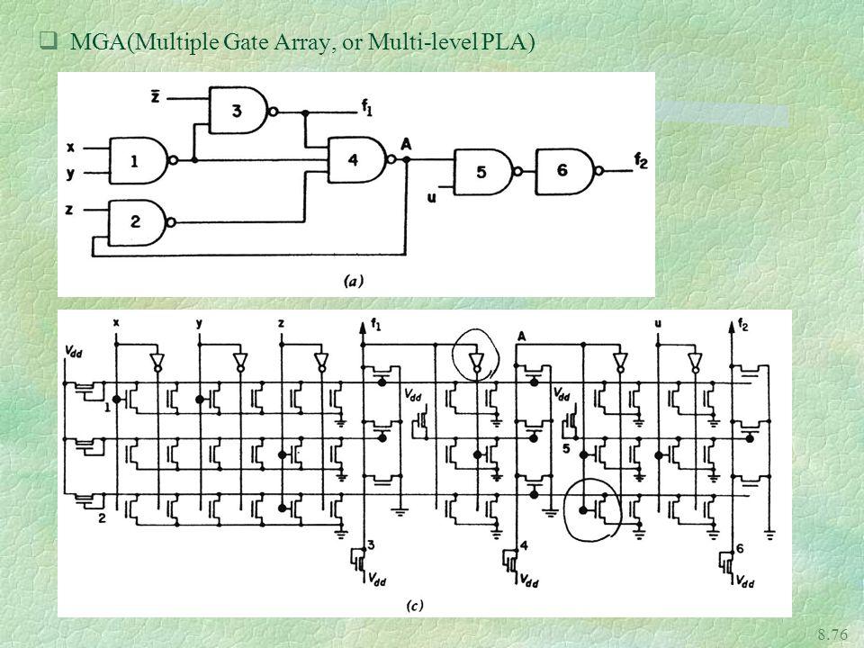 8.76 qMGA(Multiple Gate Array, or Multi-level PLA)