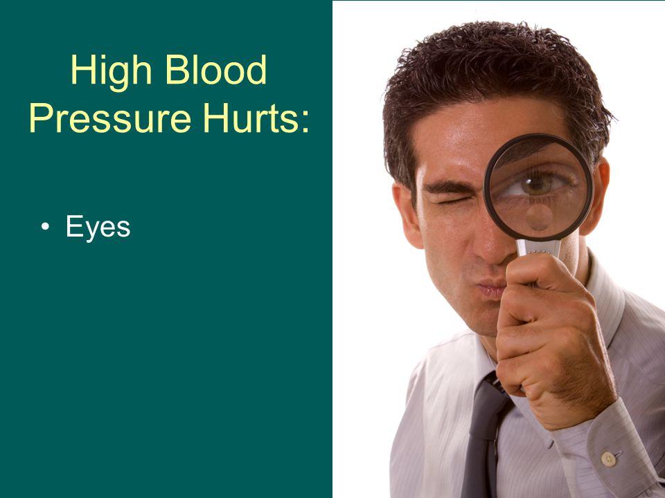 High Blood Pressure Hurts: Eyes