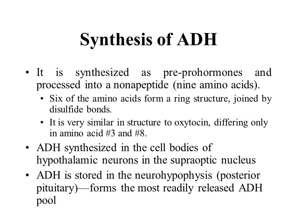 The two major stimuli of ADH secretion interact.Changes in volume reinforce osmolar changes.