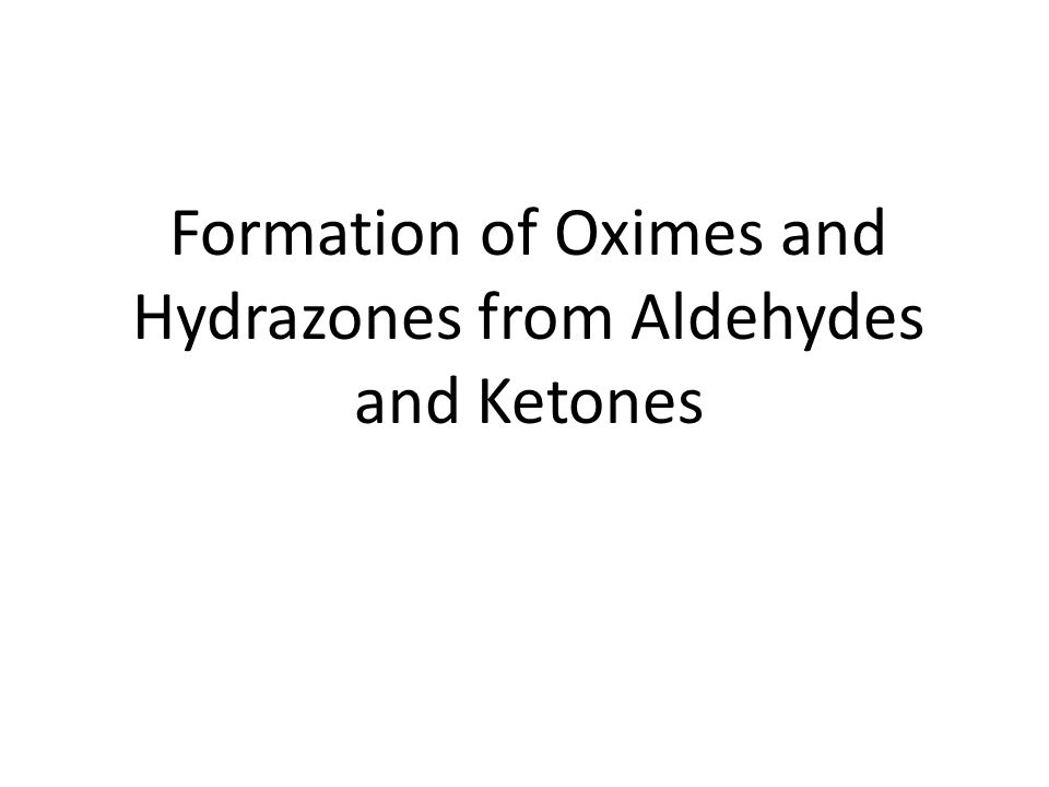 Formation of Oximes and Hydrazones from Aldehydes and Ketones
