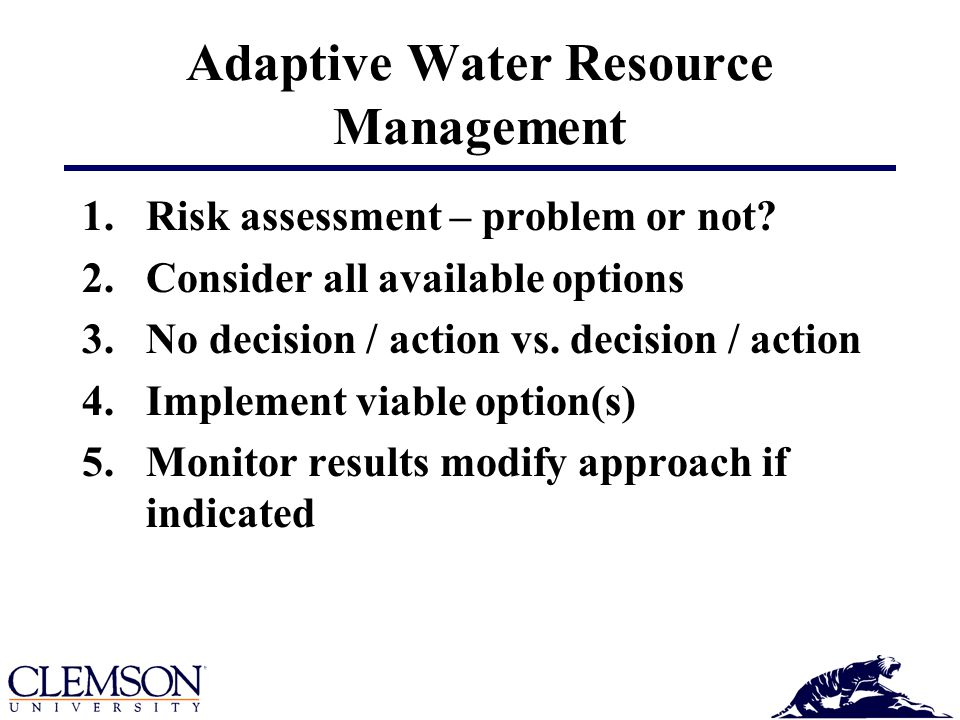 Problem?► Response Response Triggers No Action – Action Consider all the competing water resource uses!