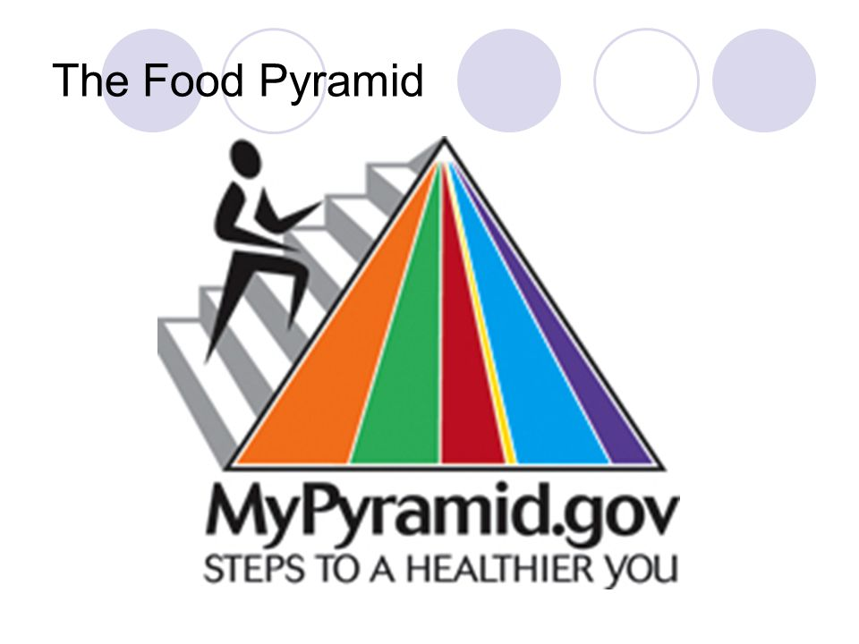 Food Pyramid – Grains Group Most aging adults need about 6 servings/day What's a serving look like.