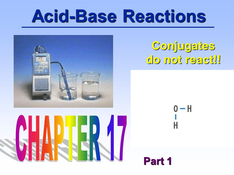 52 Acid-Base Reactions HBz + H 2 O H 3 O + + Bz - K a = 6.3 x 10 -5 [H 3 O + ] = { [HBz] / [Bz - ] } K a At the half-way point, [HBz] = [Bz - ], so [H 3 O + ] = K a = 6.3 x 10 -5 pH = 4.20 QUESTION: You titrate 100.