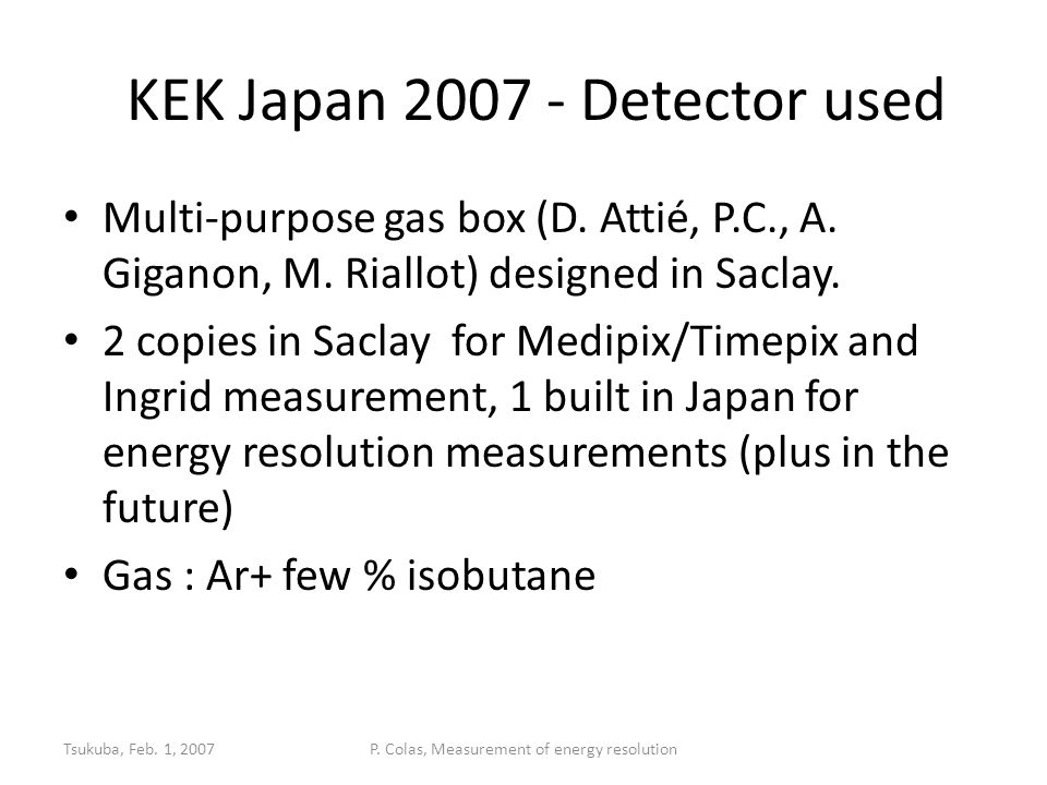 CERN, Feb.17, 2009Practical operation of Micromegas11 ' Burning' or 'cooking' your detector To make the detector stable for further operation, it must