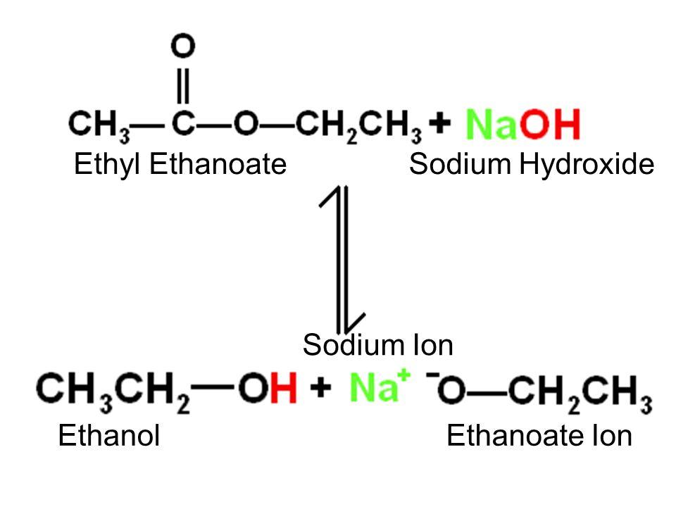 Ethanoate Ion Ethyl Ethanoate Sodium Ion Sodium Hydroxide Ethanol