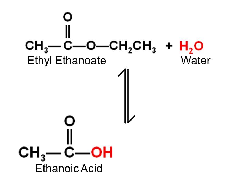 Ethyl EthanoateWater Ethanoic Acid