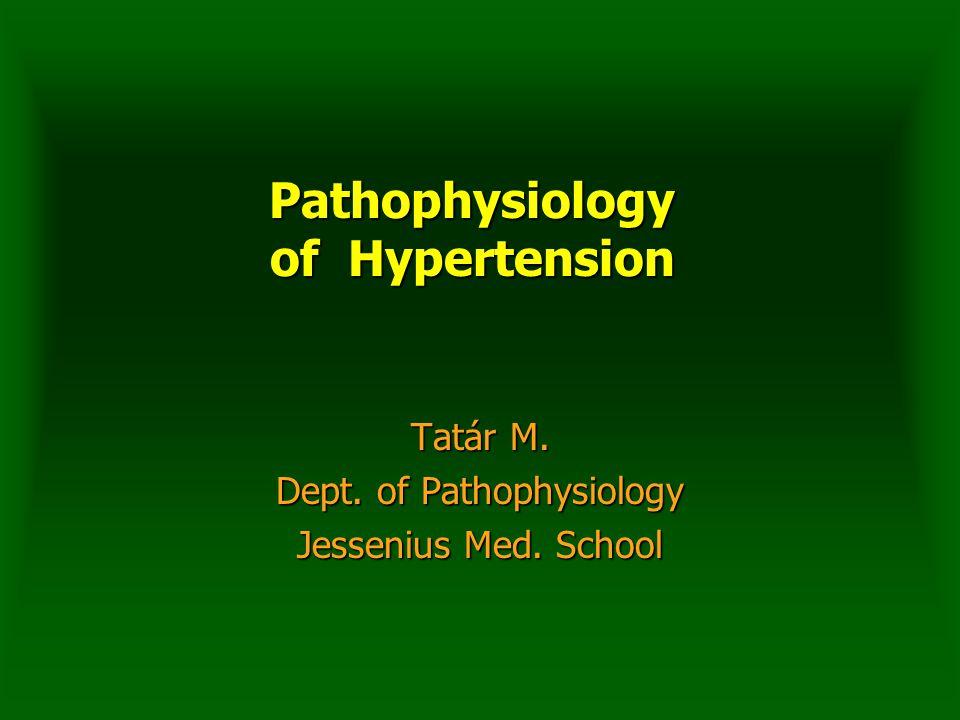 Pathophysiology of Hypertension Tatár M. Dept. of Pathophysiology Jessenius Med. School