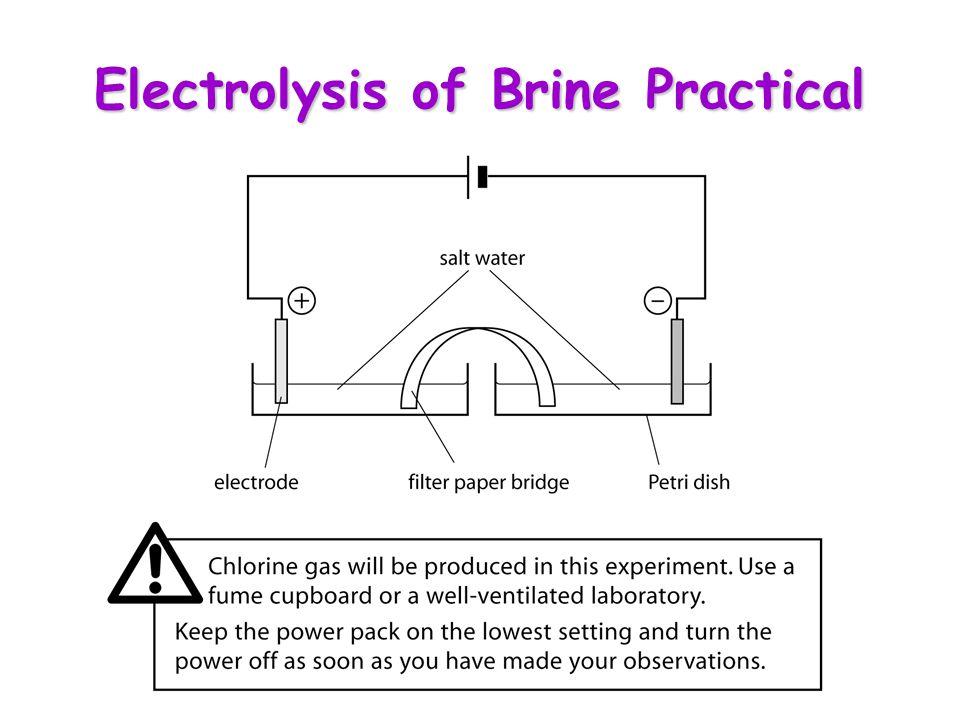 Electrolysis of Brine Practical