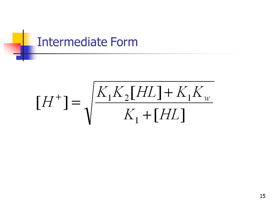 15 Intermediate Form