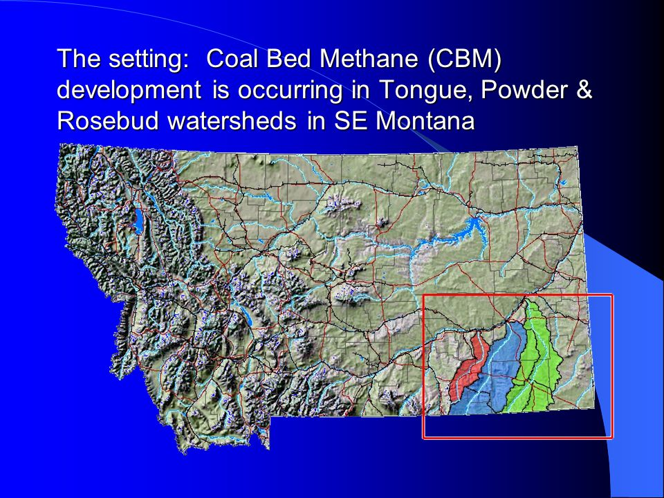 CBM Produced Water in Powder River Basin 2000 ~ 1 million bbls/day Likely 3 times that now ~ 62% of produced water in WY is discharged into drainages