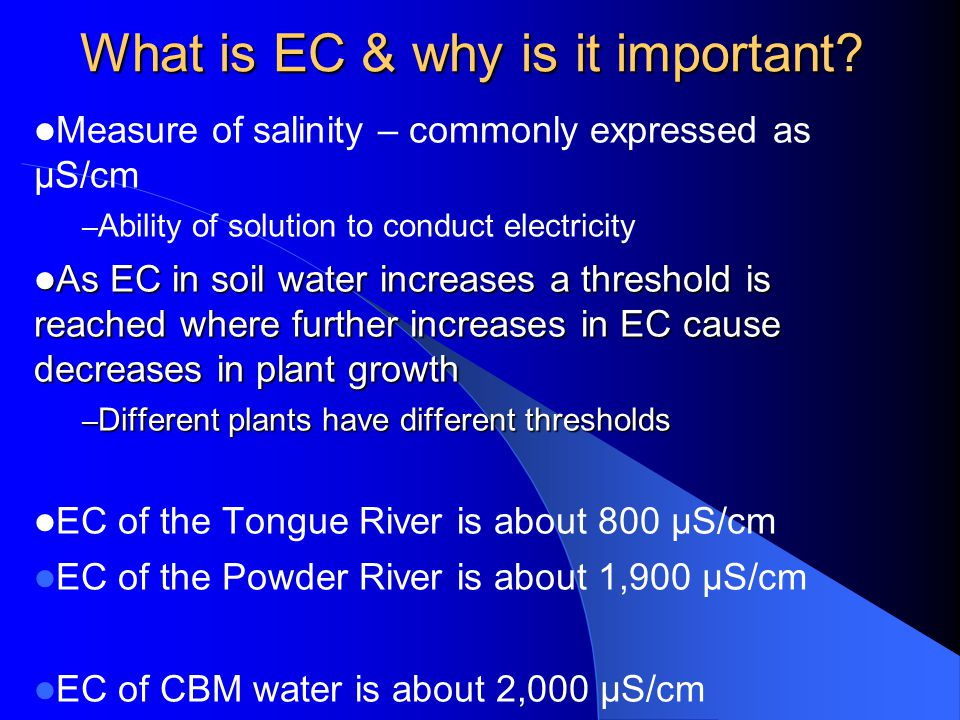 What is EC & why is it important.