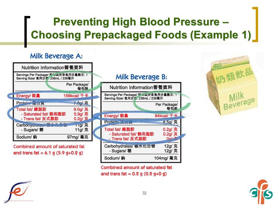 32 Preventing High Blood Pressure – Choosing Prepackaged Foods (Example 1)