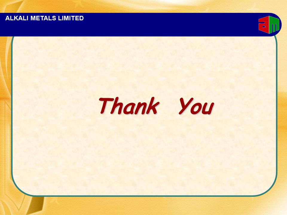 ALKALI METALS LIMITED Thank You