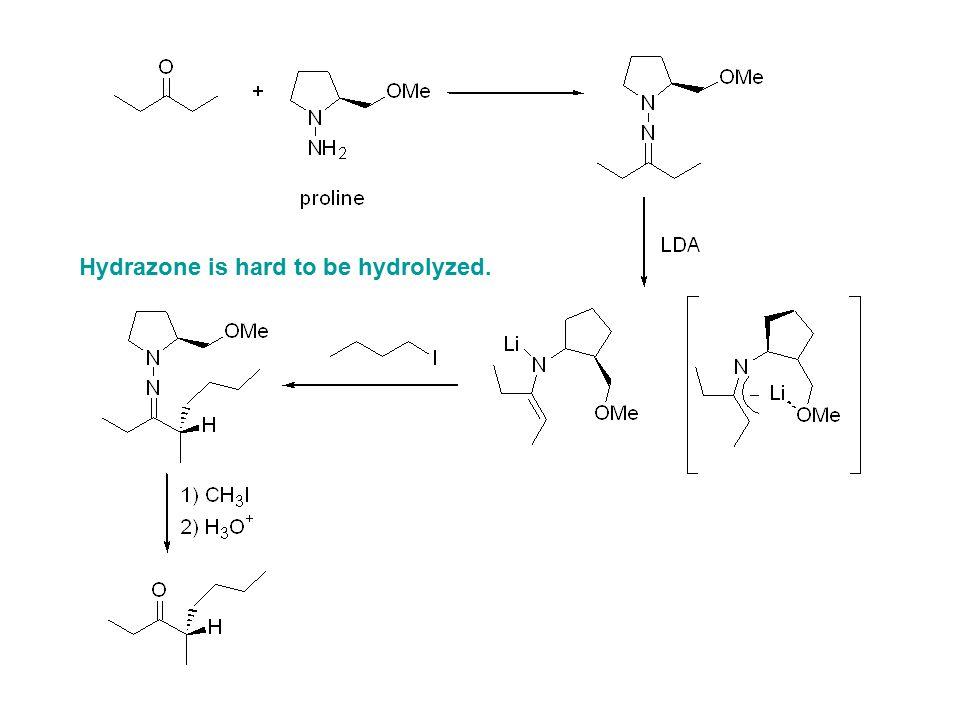 Hydrazone is hard to be hydrolyzed.