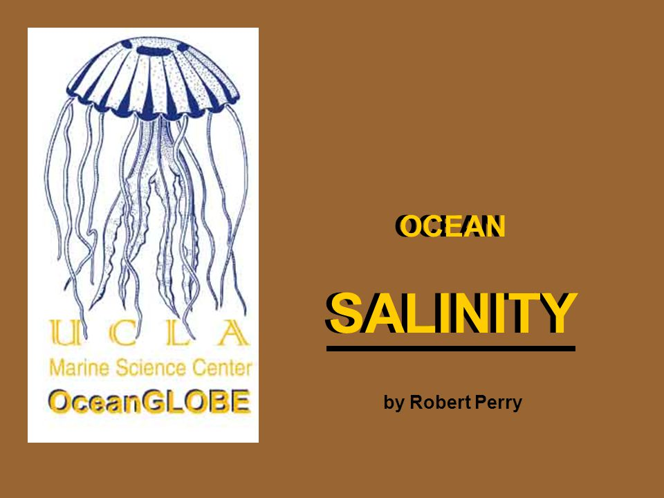 OCEAN SALINITY OCEAN SALINITY by Robert Perry