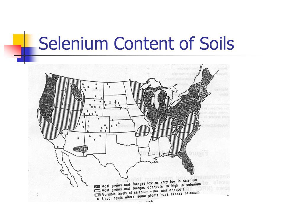 Selenium Content of Soils