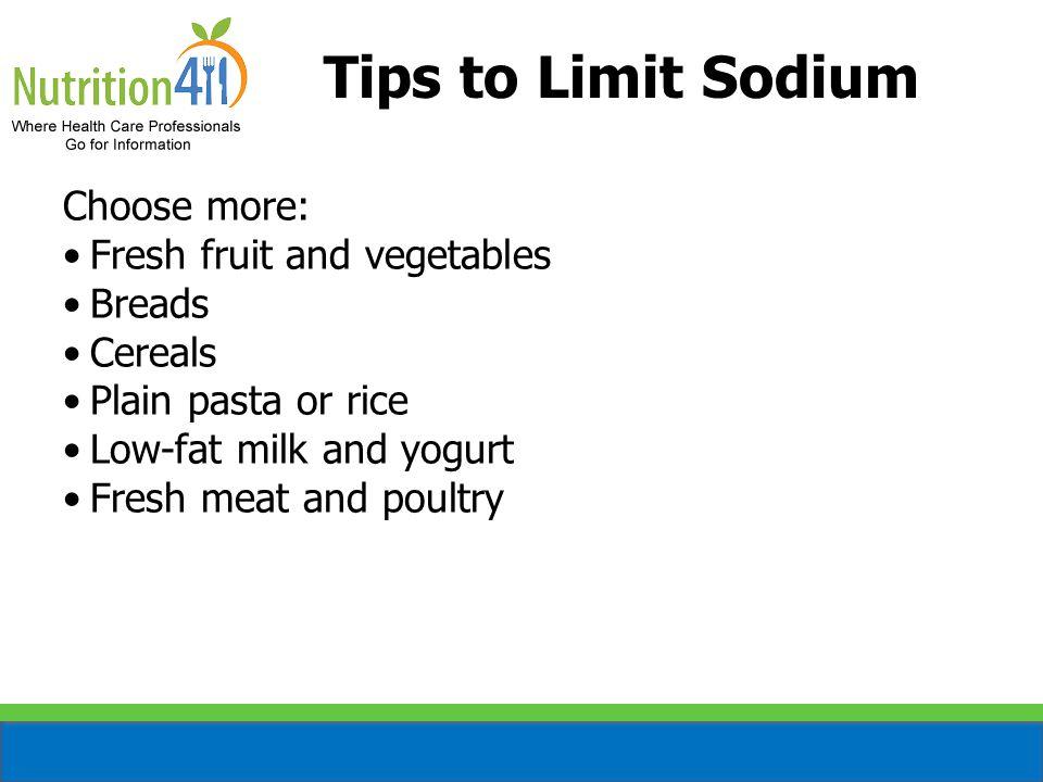 How Much Sodium.