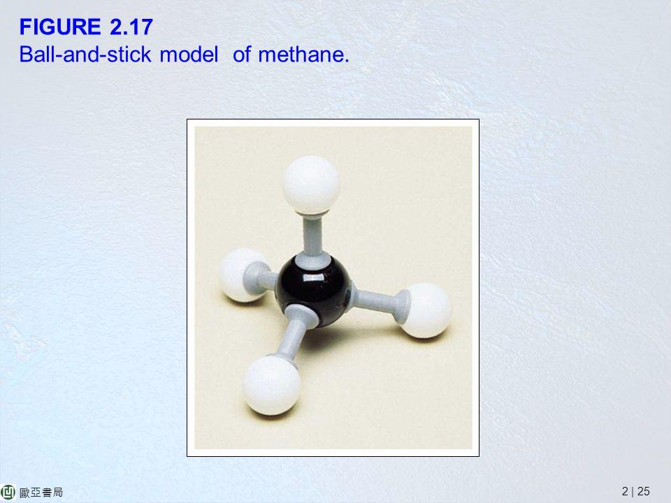 2 | 25 歐亞書局 FIGURE 2.17 Ball-and-stick model of methane.