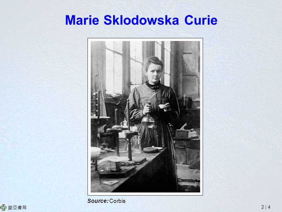 2 | 4 歐亞書局 Marie Sklodowska Curie Source: Corbis