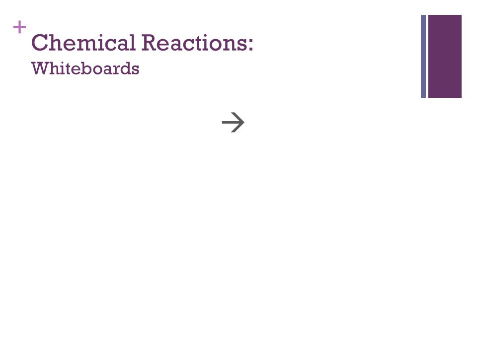 + Chemical Reactions: Whiteboards 