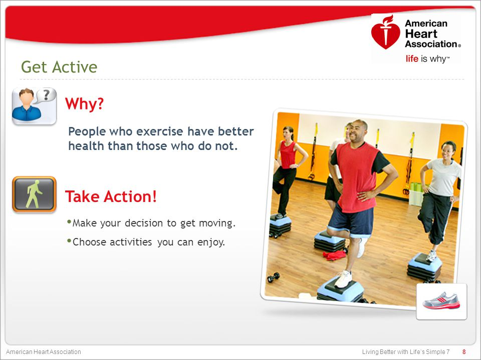 Living Better with Life's Simple 7 American Heart Association Control Cholesterol When there's too much cholesterol in your blood, you are at major risk for heart disease and stroke.