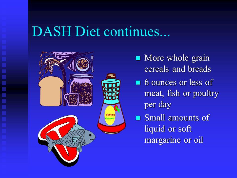 DASH Diet continues...