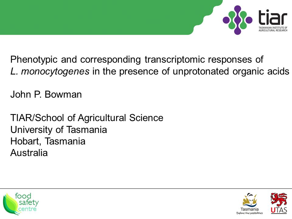 Phenotypic and corresponding transcriptomic responses of L.