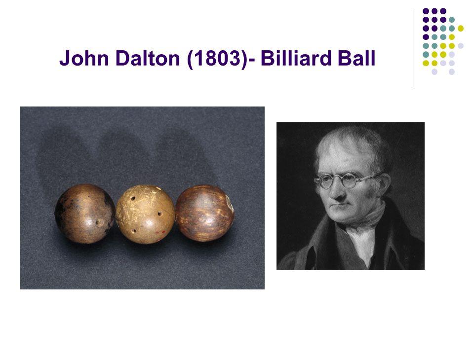 John Dalton (1803)- Billiard Ball