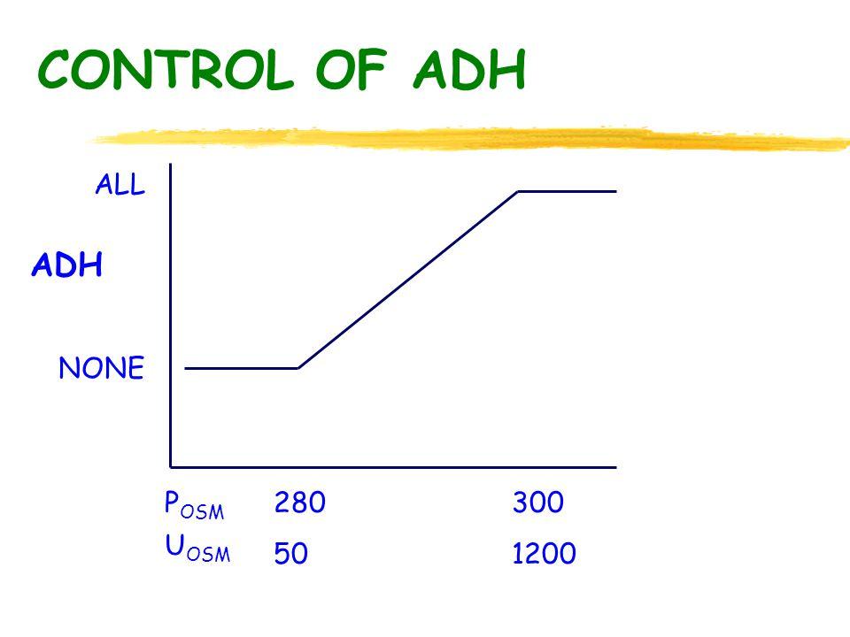 CONTROL OF ADH ALL NONE ADH P OSM U OSM 280300 501200