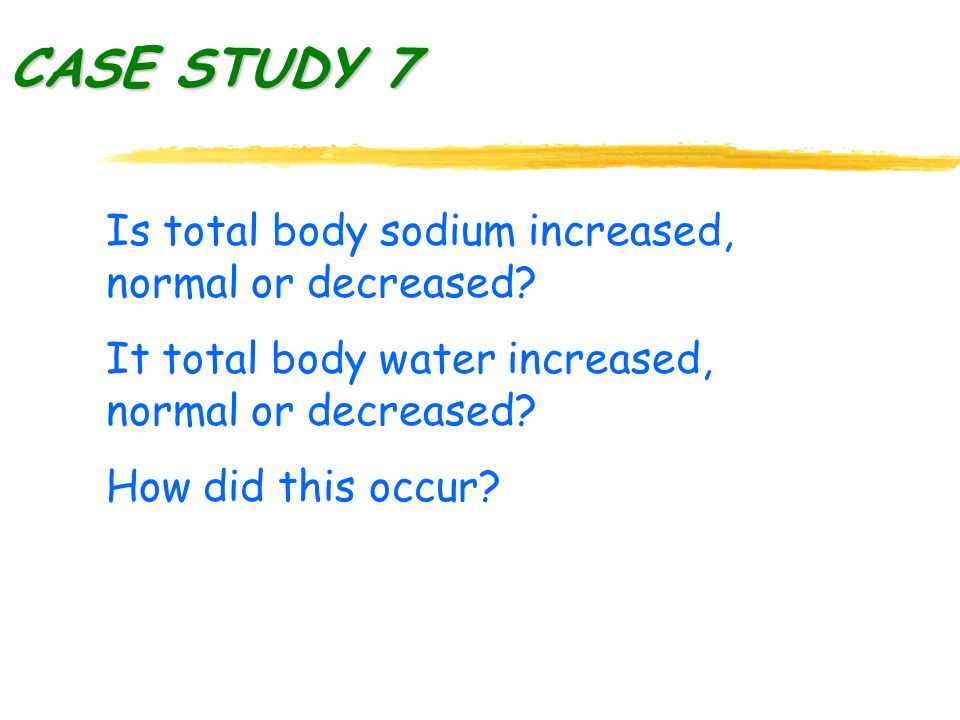 Is total body sodium increased, normal or decreased.