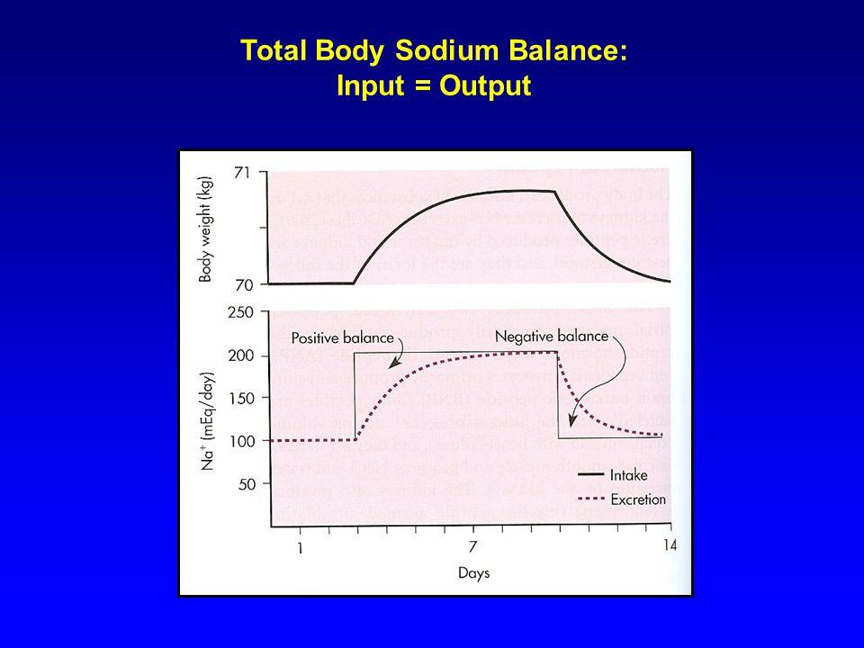 Total Body Sodium Balance: Input = Output